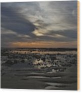 Sunset Over The Rota Corrales Wood Print