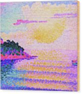 Sunset Over The Sea - Digital Remastered Edition Wood Print