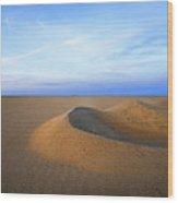 Sunset  Sand Dunes Wood Print