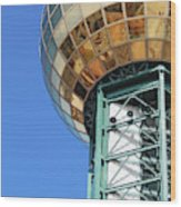 Sunsphere In Knoxville, Tn Wood Print