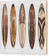 Surf Boards Wood Print
