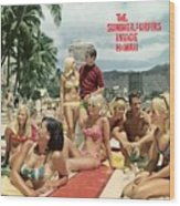 Surfing In Hawaii Sports Illustrated Cover Wood Print