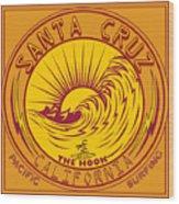 Surfing Santa Cruz California Steamer Lane Wood Print