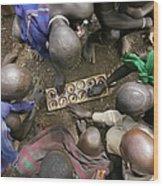 Suri Tribal Game Of Mancala Seen From Wood Print