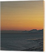 Svalbard During Sunset Wood Print