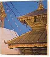 Swambutayah - The Monkey Temple Wood Print