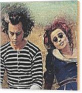Sweeney Todd And Mrs. Lovett Wood Print