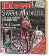 Sweet Alabama The Tide Washes Stanford Out Sports Illustrated Cover Wood Print