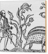 Swine Hunting, 9th Century, 1833 Wood Print