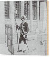Swiss Guard At St. Marco Church Wood Print
