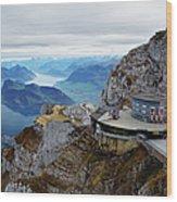 Switzerland, Lucerne, Lake Lucerne Wood Print