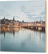 Switzerland, Lucerne, View Of Wood Print