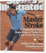 Switzerland Roger Federer, 2009 French Open Sports Illustrated Cover Wood Print