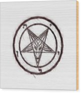 Symbol Of The Occult Wood Print