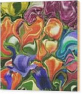 Symphony Of Color Wood Print