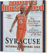 Syracuse University Carmelo Anthony, 2003 Ncaa National Sports Illustrated Cover Wood Print