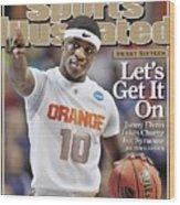Syracuse University Jonny Flynn, 2009 Ncaa South Regional Sports Illustrated Cover Wood Print
