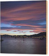 Tahoe at Sunset Wood Print