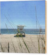 Tamarack Beach Wood Print