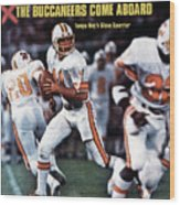 Tampa Bay Buccaneers Qb Steve Spurrier... Sports Illustrated Cover Wood Print