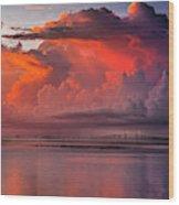 Tampa Bay Storm Wood Print
