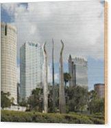 Tampa Skyline, 2007 Wood Print