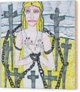 Tarot Of The Younger Self Eight Of Swords Wood Print