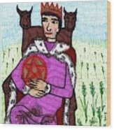 Tarot Of The Younger Self King Of Pentacles Wood Print