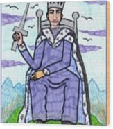 Tarot Of The Younger Self King Of Swords Wood Print
