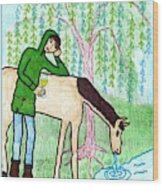 Tarot Of The Younger Self Knight Of Cups Wood Print