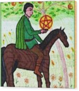 Tarot Of The Younger Self Knight Of Pentacles Wood Print