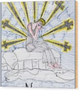 Tarot Of The Younger Self Nine Of Swords Wood Print