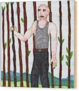 Tarot Of The Younger Self Nine Of Wands Wood Print