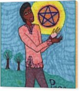 Tarot Of The Younger Self Page Of Pentacles Wood Print