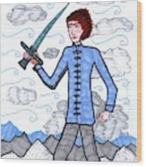 Tarot Of The Younger Self Page Of Swords Wood Print
