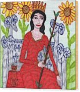 Tarot Of The Younger Self Queen Of Wands Wood Print