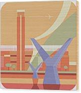Tate Gallery And Millennium Bridge Wood Print