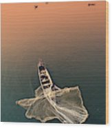 Taungthaman Lake Wood Print
