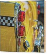 Taxi Tail Light, New York City, New Wood Print