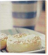 Tea And Crumpets Wood Print