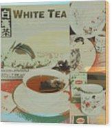 Tea Collage Poster Wood Print