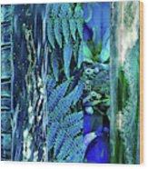 Teal Abstract Wood Print