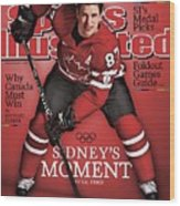 Team Canada Sidney Crosby, 2010 Vancouver Olympic Games Sports Illustrated Cover Wood Print