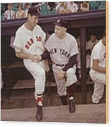 Ted Williams & Casey Stengel Wood Print