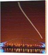 Tempe Town Lake Pedestrian Bridge Wood Print