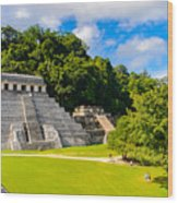 Temple Of The Inscriptions, Palenque Wood Print
