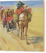 Ten Thousand Mile Motor Race Camel Train Wood Print