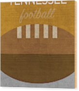 Tennessee Football Minimalist Retro Sports Poster Series 004 Wood Print