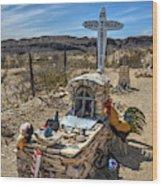 Terlingua Grave Wood Print