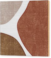 Terracotta Art Print 1 - Terracotta Abstract - Modern, Minimal, Contemporary Abstract - Brown, Beige Wood Print